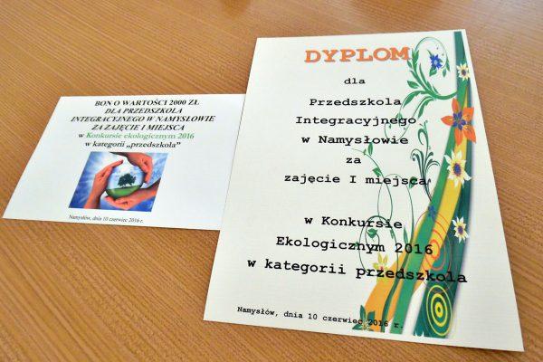 Mamy pierwsze miejsce w konkursie ekologicznym!