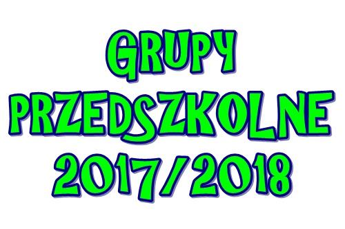Nasze przedszkolaki – rok szkolny 2017/2018