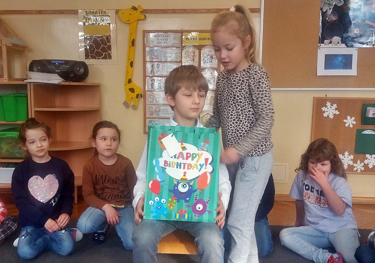 """Urodziny Stasia – gr. VI """"Żyrafki"""""""