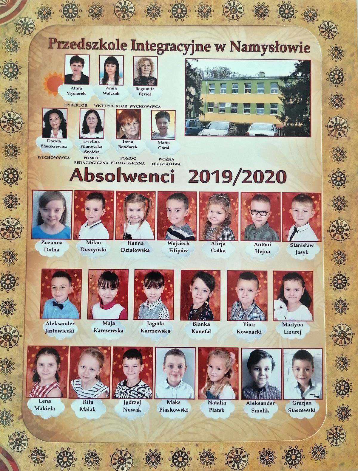 """Pożegnanie przedszkolaków z gr. VI """"Żyrafki"""""""