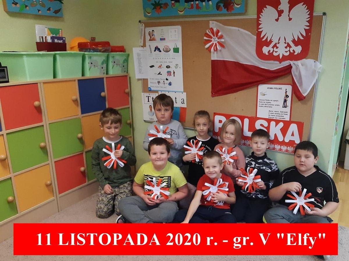 """11 Listopada Święto Niepodległości – gr. V """"Elfy"""""""