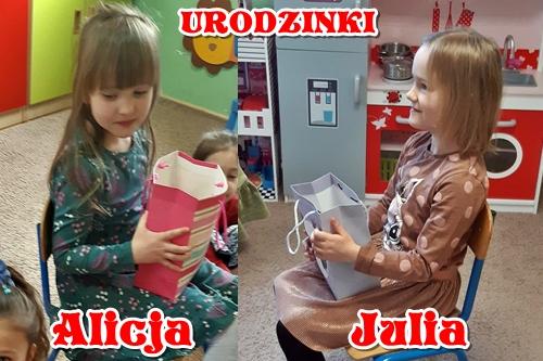 """Urodziny Alicji i Julii w grupie V """"Elfy"""""""